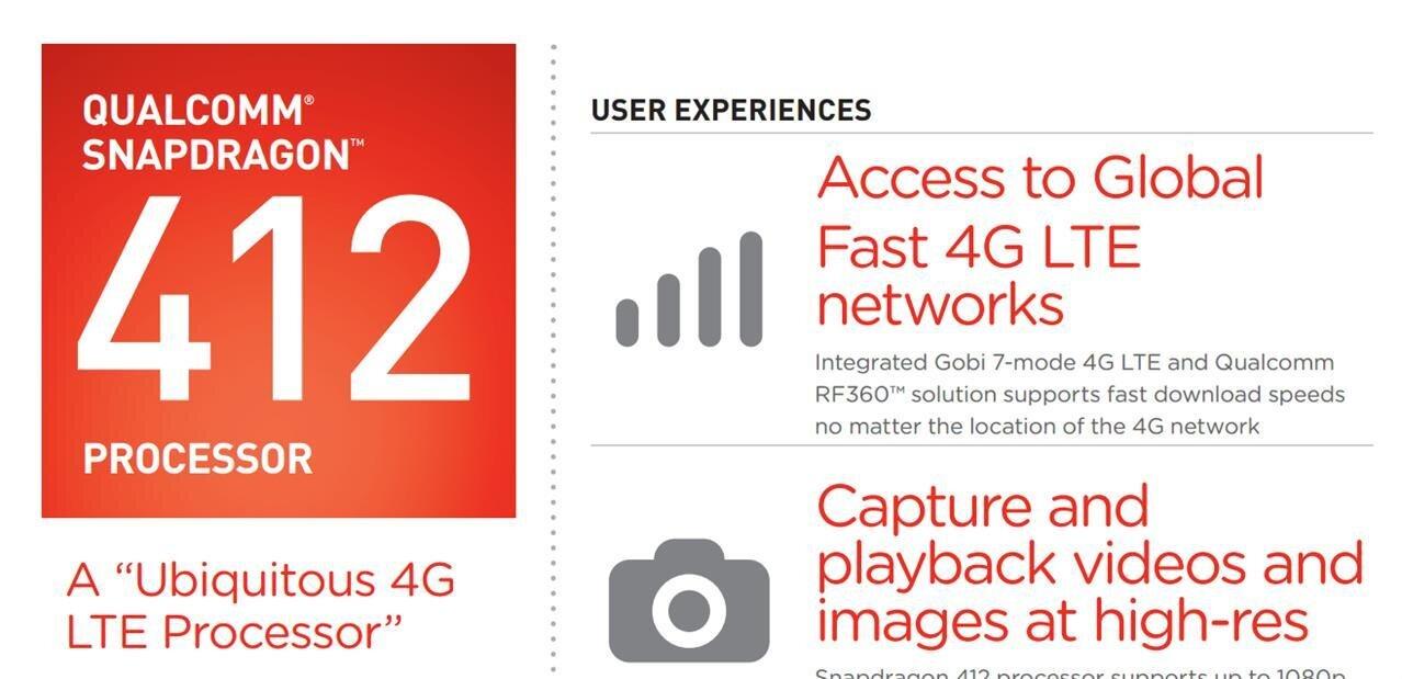Qualcomm dévoile deux nouveaux SoC Snapdragon 412 et 212, pour quelques MHz de plus
