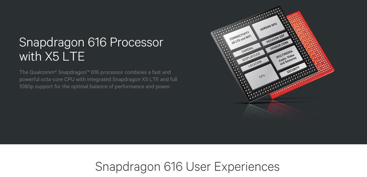 Snapdragon 616 : 200 MHz de plus sur la moitié descœurs et de la 4G+ à 150 Mb/s