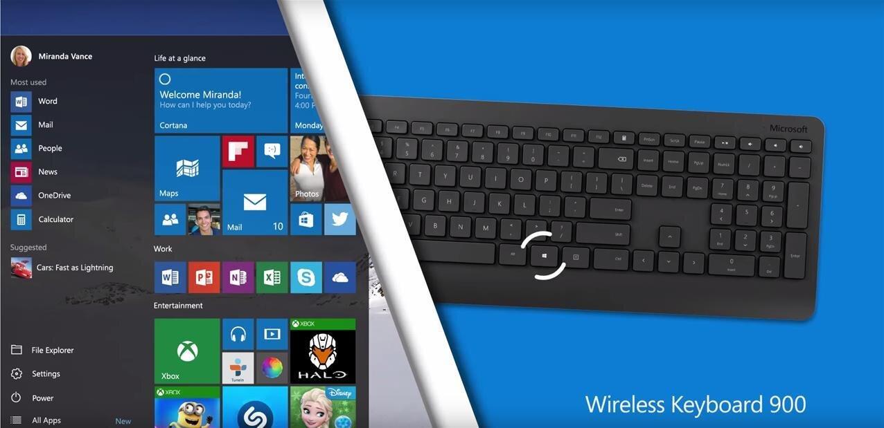 Microsoft  généralise le chiffrement pour ses claviers sans fil et dévoile sonWireless  Desktop 900