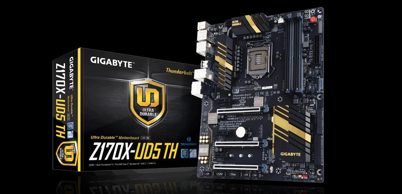 Gigabyte Z170X-UD5 TH : Thunderbolt 3 et HDMI 2.0, mais attention aux détails