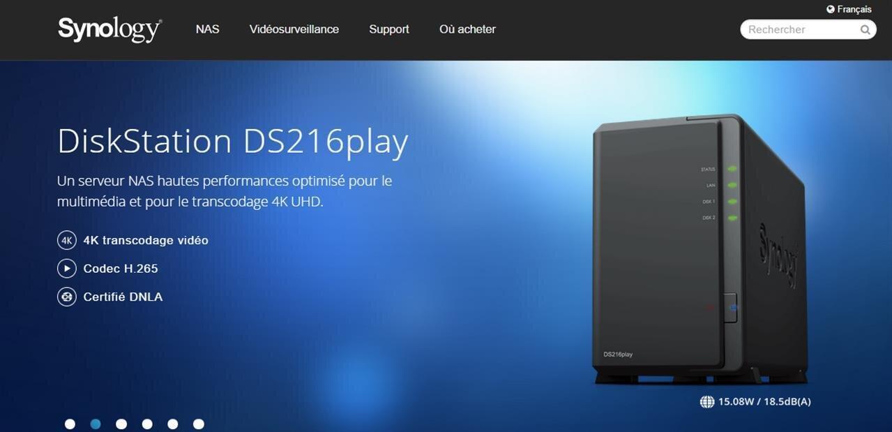 NAS Synology : les DS216se, DS216play et DS416 arrivent en boutique, dès 114,95 €