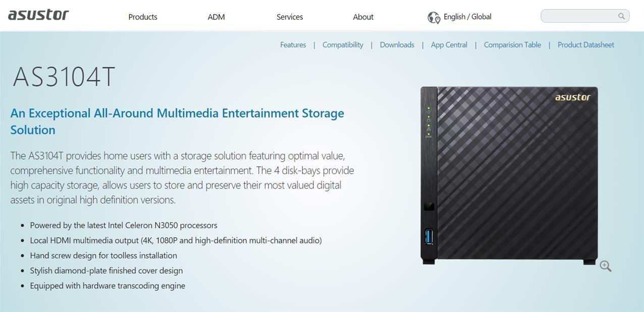 NAS Asustor série 31 : chiffrement AES-NI, transcodage vidéo et sortie HDMI