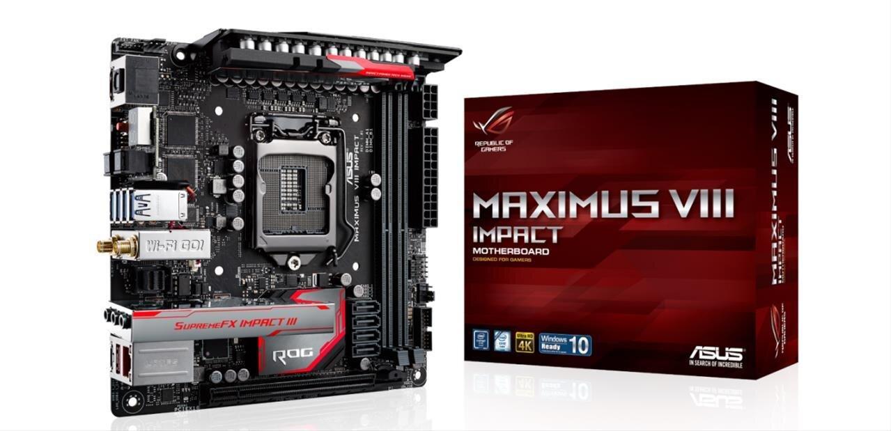 ASUS Maximus VIII Impact : une carte mère Z170 mini-ITX pour les amateurs d'overclocking