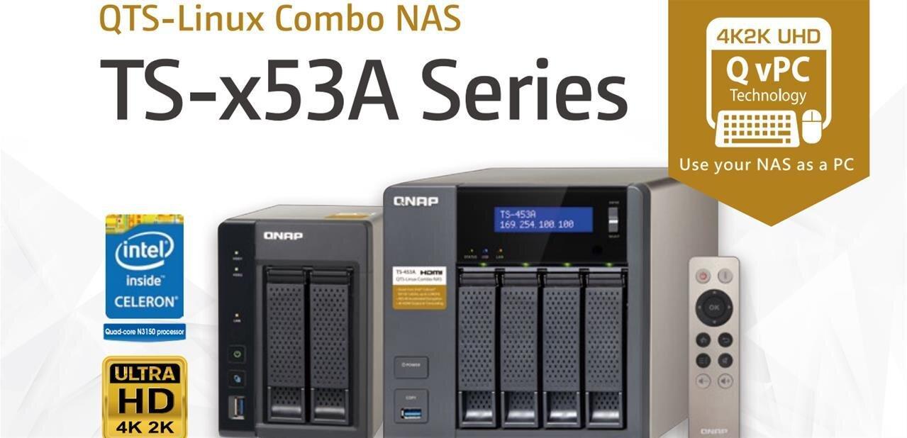 NAS QNAP TS-x53A : double système « QTS-Linux » pour l'IoT et... fonction karaoké