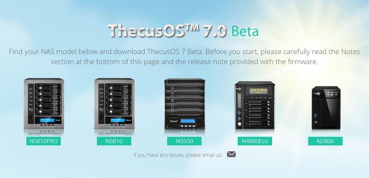 ThecusOS 7.0 est disponible en version bêta pour cinq NAS