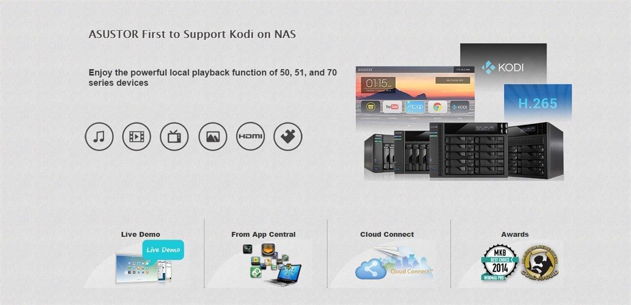 Kodi 14 prend la place de XBMC sur certains NAS Asustor