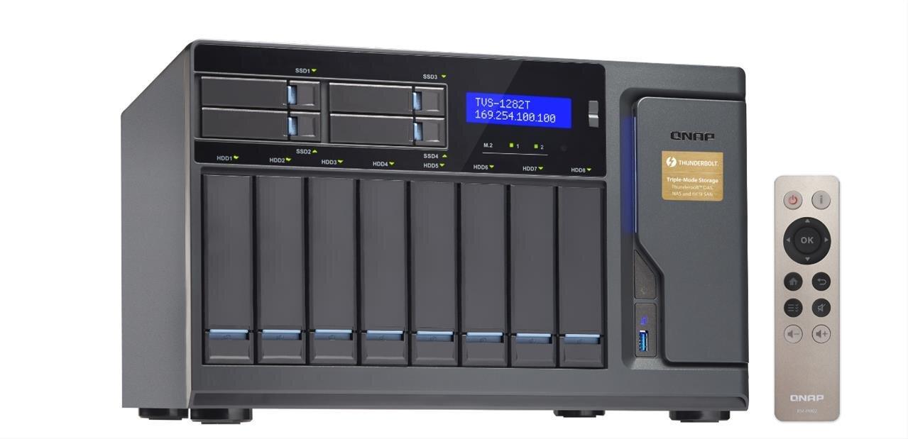 NAS TVS-x82 : QNAP sort le grand jeu avec Core i7, HDMI 2.0, Thunderbolt 2, PCIe, M.2, etc.