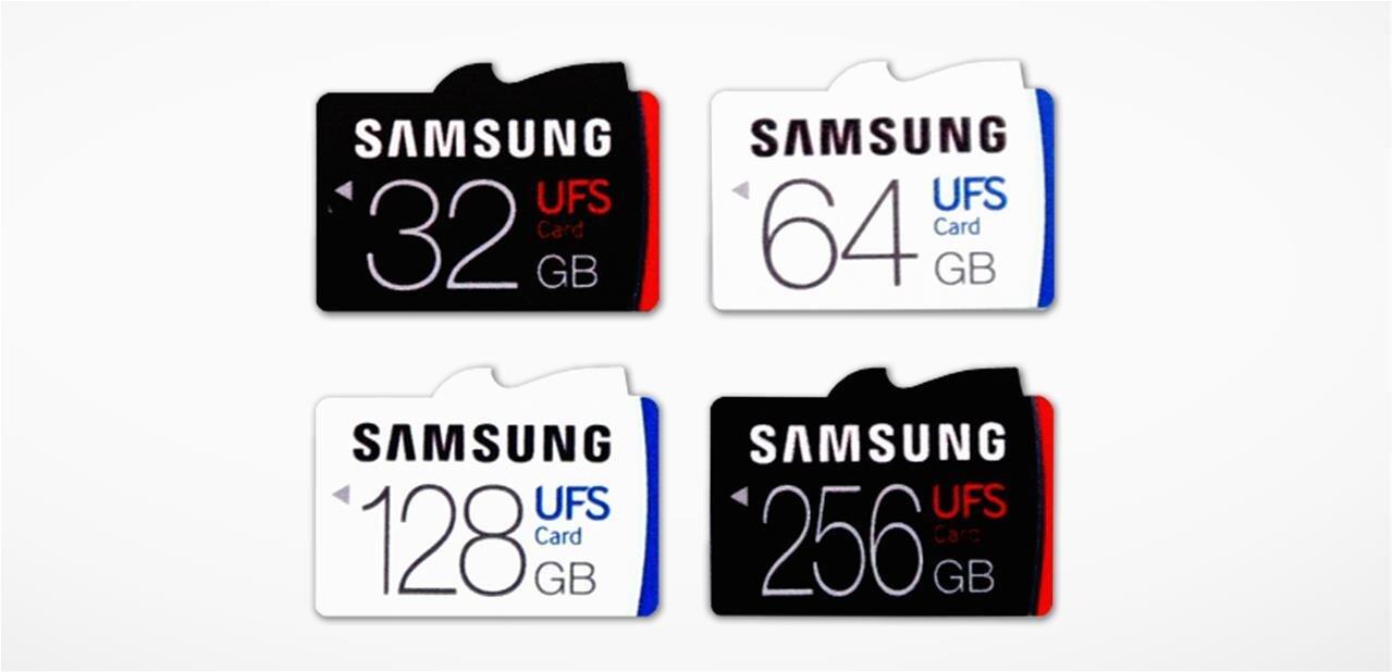 Samsung : des cartes mémoires UFS capables de monter jusqu'à 530 Mo/s