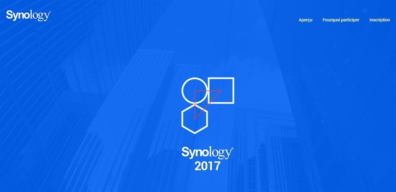 Synology 2017 : une conférence en octobre, inscrivez-vous pour découvrir les nouveautés