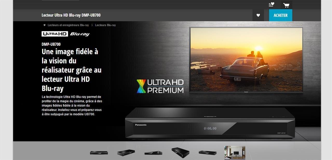 Panasonic DMP-UB700 : un lecteur Ultra HD Blu-ray qui se veut plus abordable