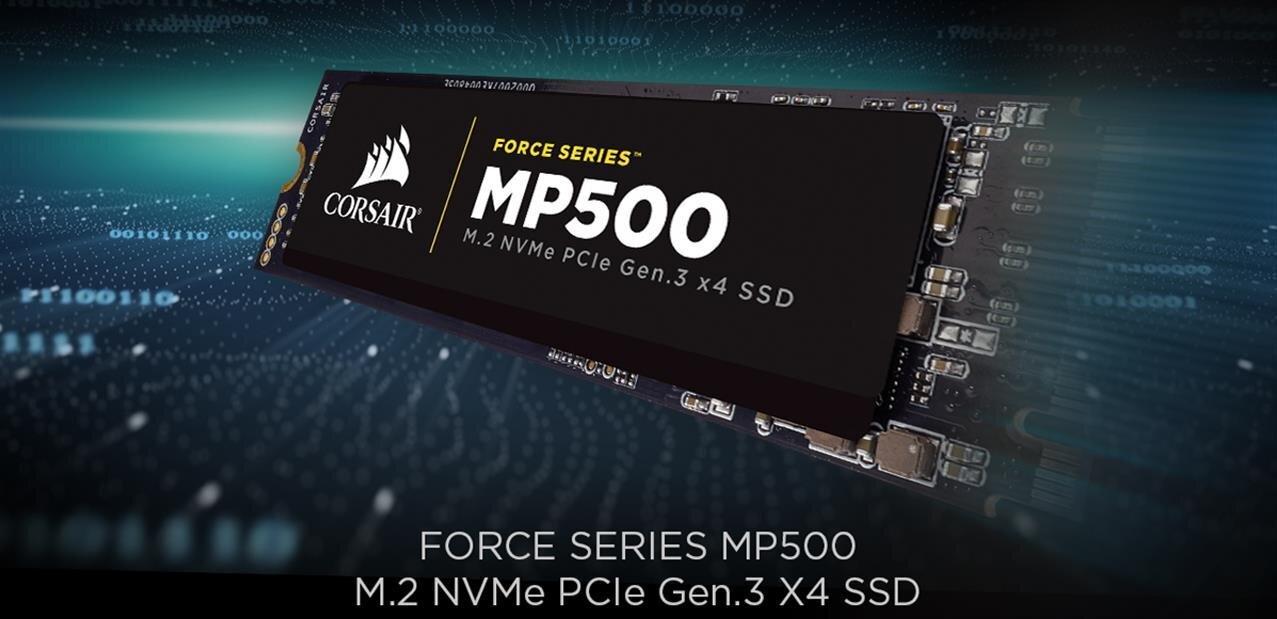 Corsair Force Series MP500 : des SSD M.2 et NVMe, des débits jusqu'à 3 Go/s