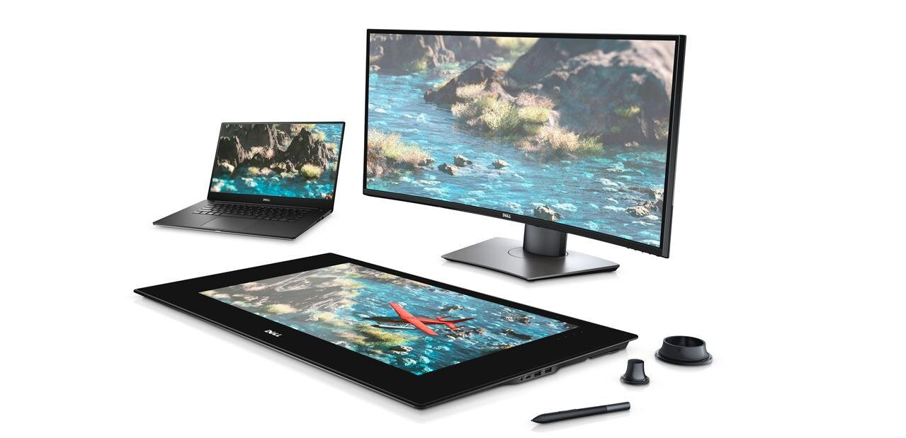 """Dell Canvas : un écran de 27"""" et des « totems » qui viennent jouer sur le terrain du Surface Studio"""