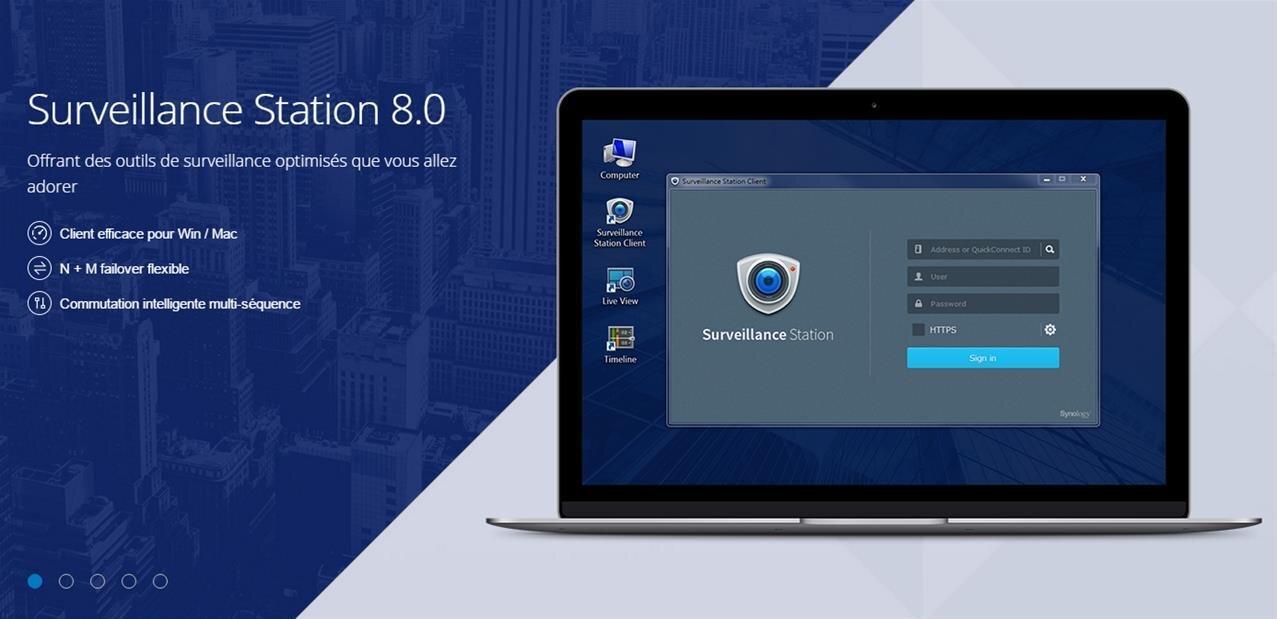 Synology : Surveillance Station 8.0 disponible, avec des clients Windows et macOS