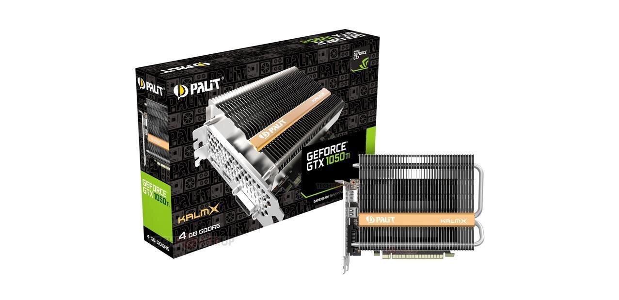 Palit dévoile une GeForce GTX 1050 Ti KalmX passive