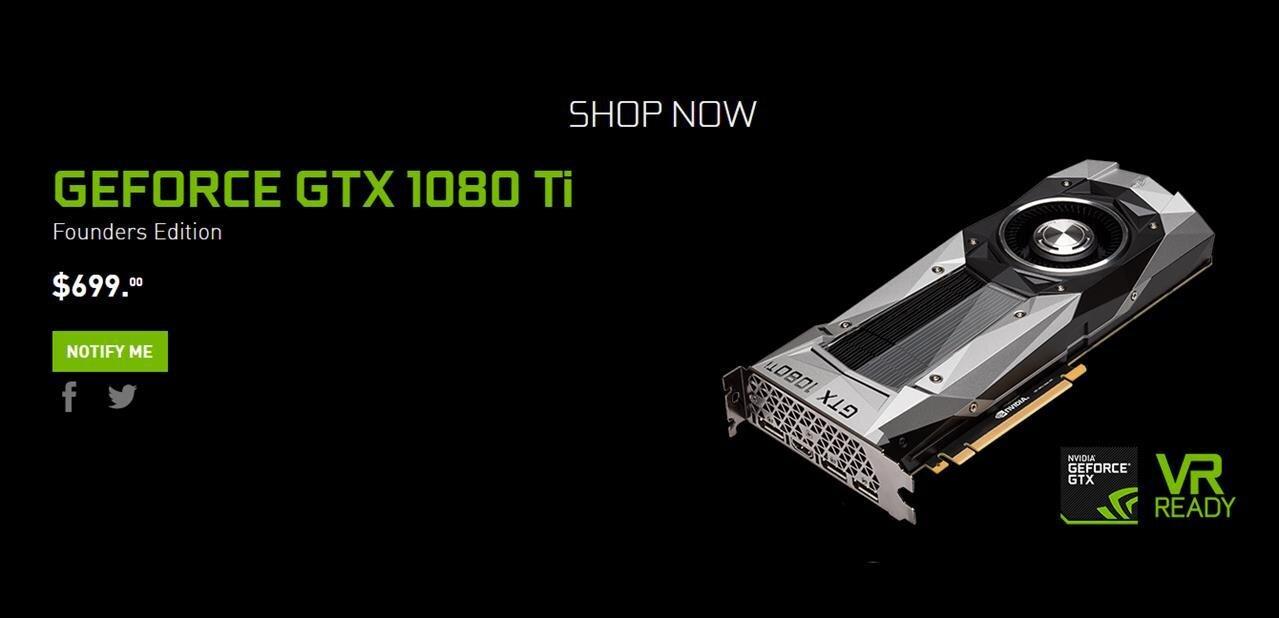 NVIDIA annonce sa GTX 1080 Ti 11 Go à 699 $« plus rapide qu'une Titan X à 1200 $ »