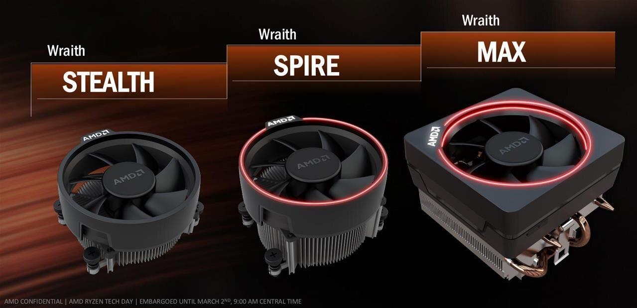 AMD Ryzen : le ventirad Wraith Max pour les intégrateurs, le Stealth pour certains CPU