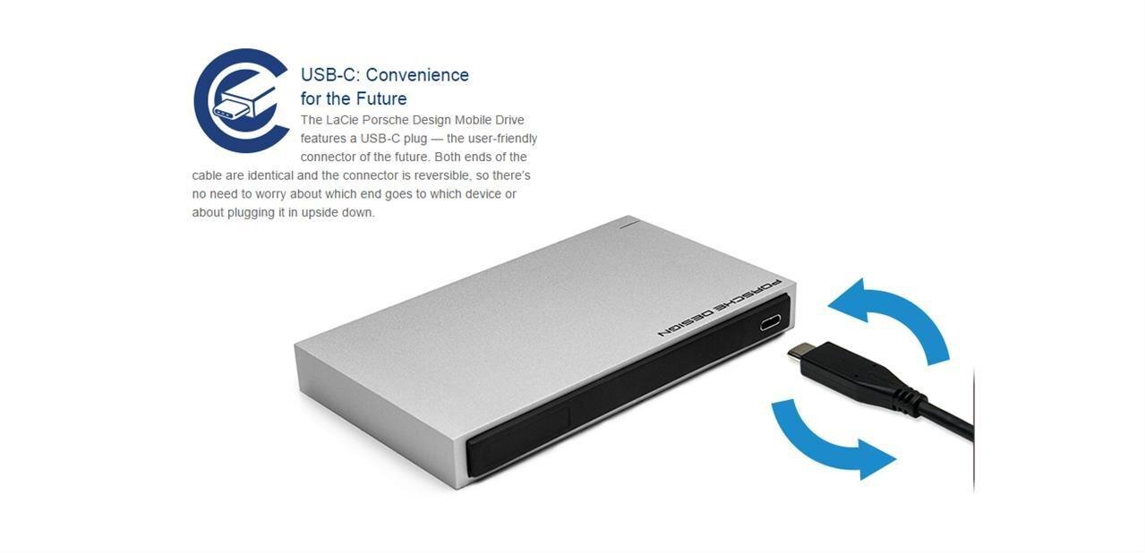 USB 3.0 Type-C (réversible) : LaCie annonce un disque dur externe, SanDisk une clé USB